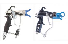 Air assisted airless spray guns