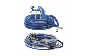 Airless and air-assisted airless gun and hose kits