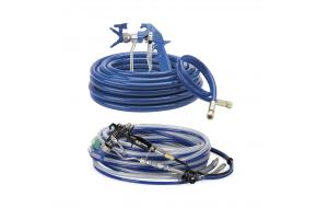 Airless and air-assisted airless gun and hose kits
